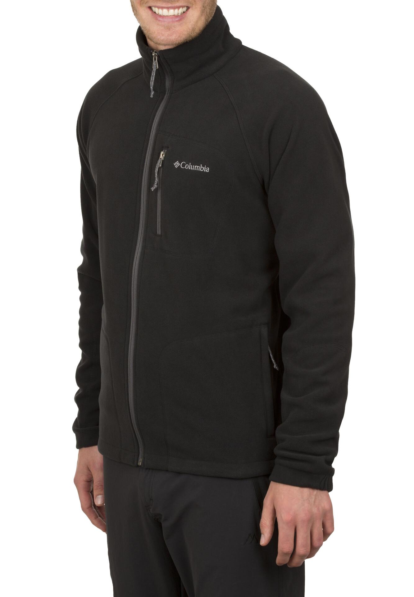 Columbia Herren Trek Fast Full Ii Zip Fleece Black Jacket kPXZui